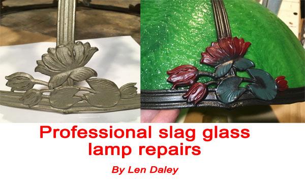 Bent curved glass panels repair