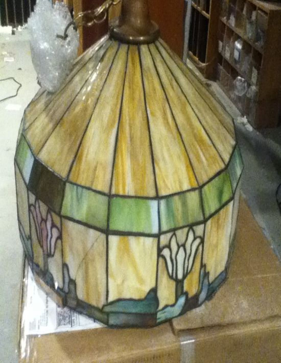 Tiffany stained glass lamp repair