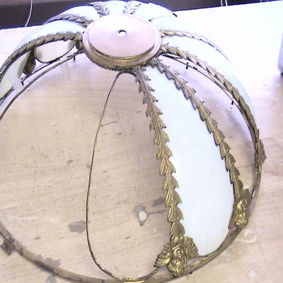 Bent glass panel lamp repair near me