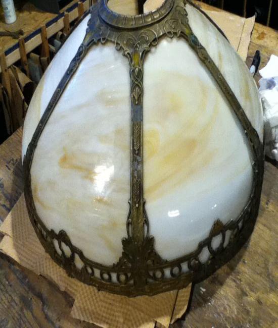Bent curved glass panel lamp repair