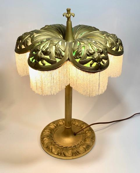 Miller slag glass table lamp repair