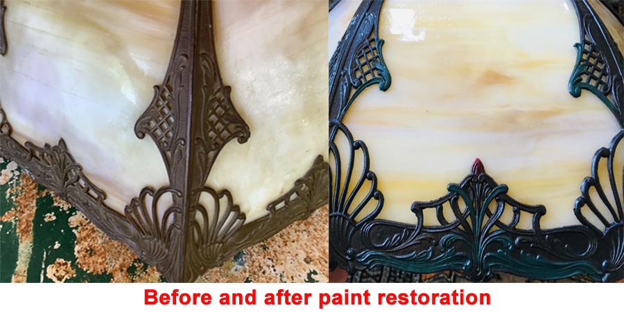 Curved glass lamp panels repair