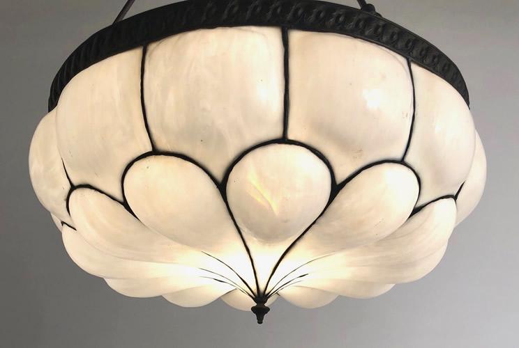 Bent glass lamp panel repairs