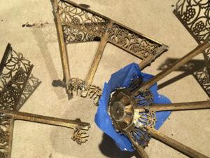 Curved antique lamp repairs near me