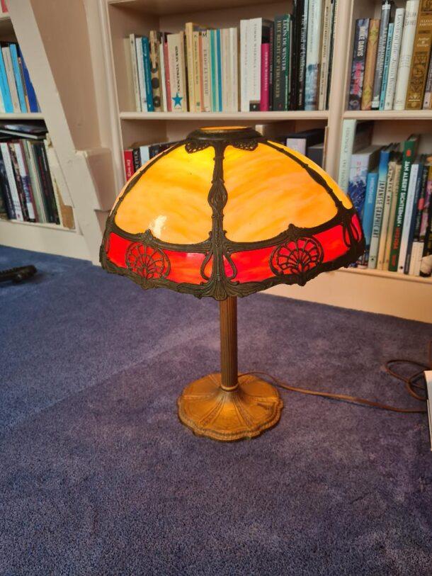 Bent glass lamp panel repair